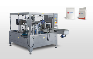 stand-up with gusset pouch packing machine
